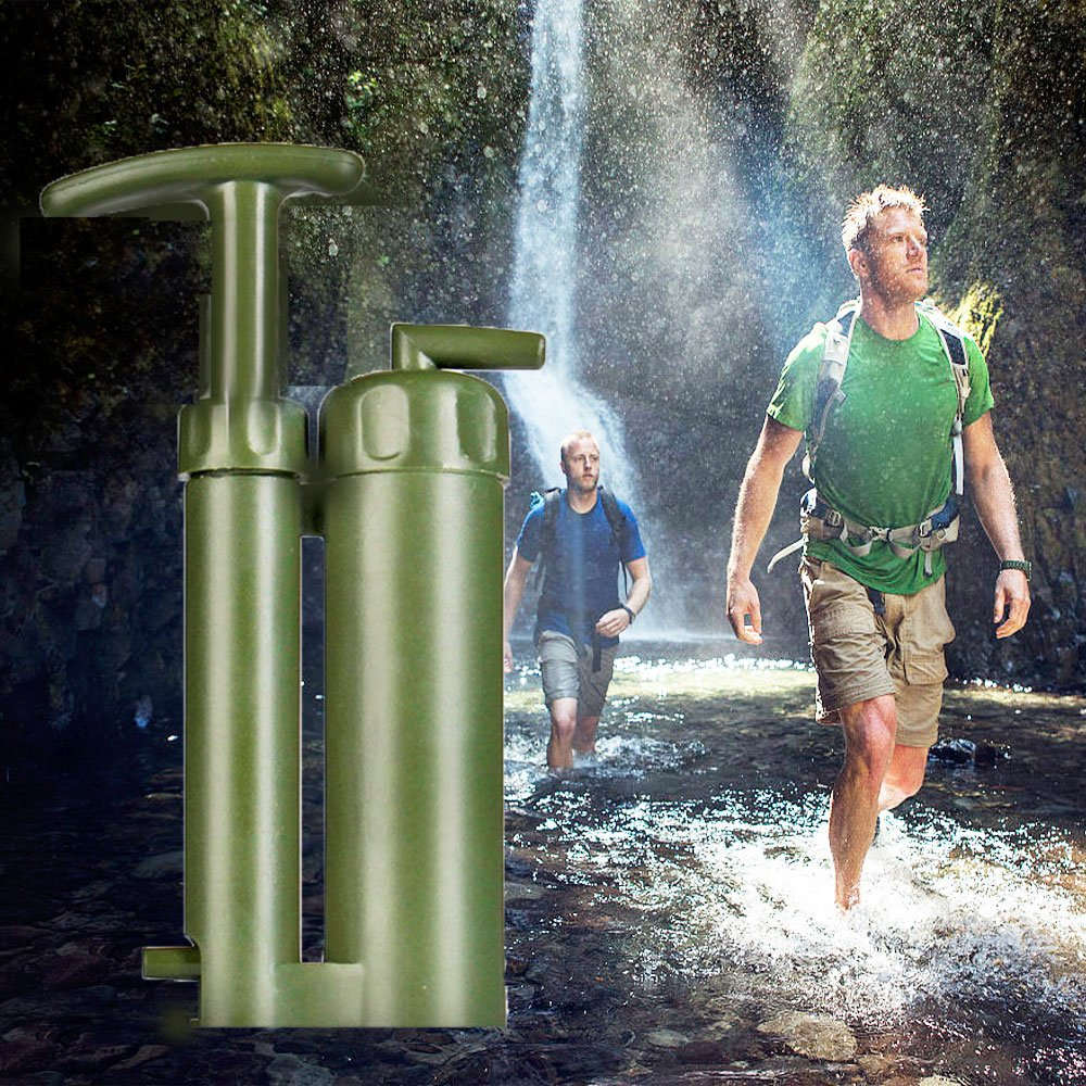Pump Water Filter Purifier Hiking Camping Mini Pure Soldier Portable Emergency