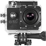 """Action Cam, icefox ® Wasserdichte Wi-Fi Action-Kamera, 12 MP, 1080 p, HD 2.0"""" LCD, Taucherhelm, Sportwagen-Kamera mit kostenlosem Accessories-Kit (schwarz)"""
