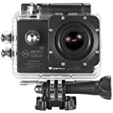 icefox® WIFI Action Camera, FHD Underwater Digital Camera with 12MP 1080P HD 2.0 Inch LCD and Free Accessories Kit for Diving, Swimming, Running, Climbing and Hunting (Black)