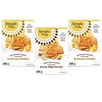 Simple Mills, Snacks Variety Pack, Smoky BBQ Cheddar, Farmhouse Cheddar Variety...