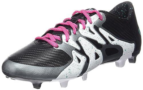 adidas X 15.3 FG/AG, Botas de fútbol para Hombre, Negro/Verde