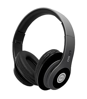 Auriculares inalámbricos de diadema iJoy plegables sobre el oído recargables con micrófono y Bluetooth, color