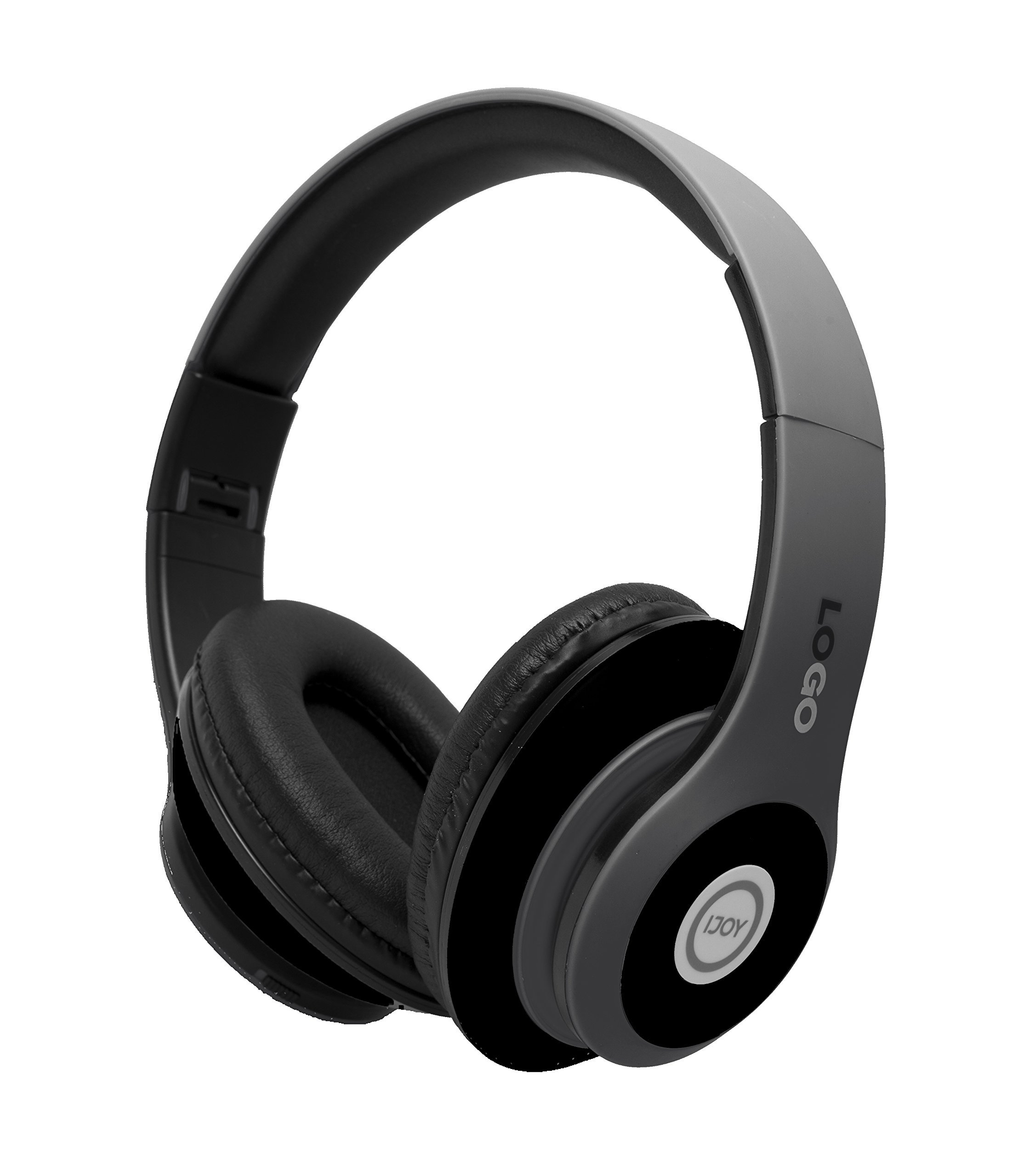 Auriculares Ijoy Matte Finish Premium Recargable Inalambrico Bluetooth Over-ear Plegable Headset Con Mic (stealth)