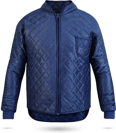 normani Thermo-Unterzieh-Jacke Thermojacke Thermounterwäsche mit Nierenschutz Blau Gr. S-XXXL