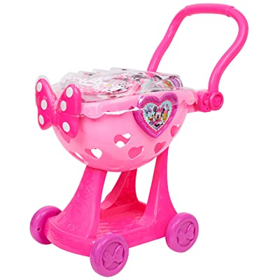 Minnie Happy Helpers Bowtique Shopping Cart Pink: Toys & Games