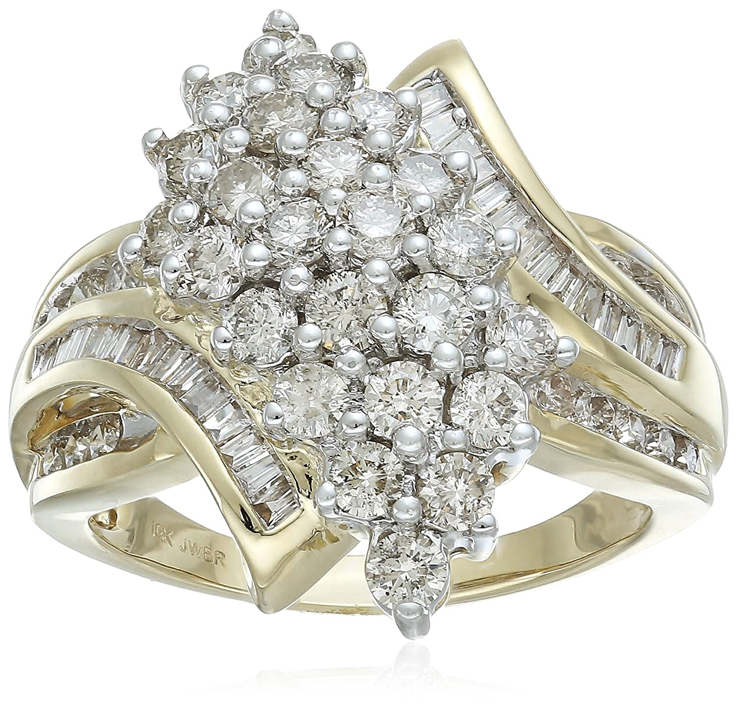 diamond store rings raw wedding cluster ring