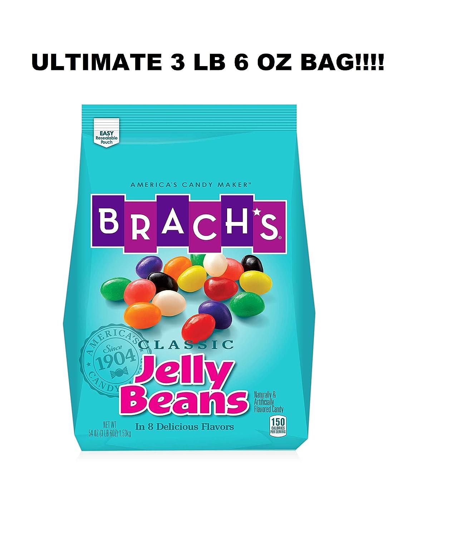 Brach's Classic Jelly Beans Candy, Assorted Flavors, 22 Ounces (BRACH'S  HUGE 3 LB 6 OZ BAG - 54