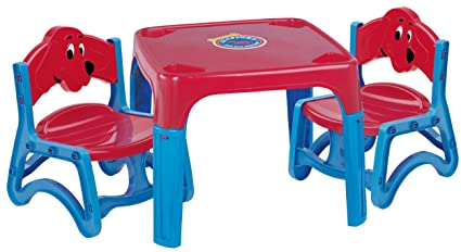 Brilliant American Plastic Toy Clifford The Big Red Dog Table And Chairs Set Machost Co Dining Chair Design Ideas Machostcouk