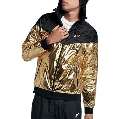 nike sportswear windrunner black&gold wooman