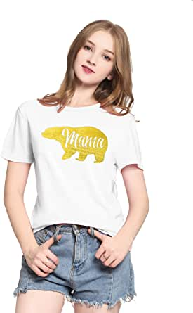 PINJIA Womens Cute Letter Printed Graphic Funny Tshirts Top Tees(MXT06)