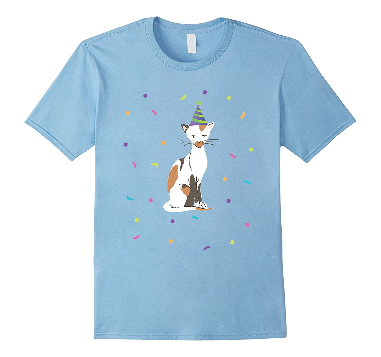 Cute Birthday Cat Calico Shirt Happy Day Girls, Women Kids-Art