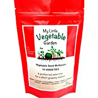Vegetable Seeds Variety Pack Canada - 10 Varieties Non GMO (Raised Bed Garden & Container Friendly)