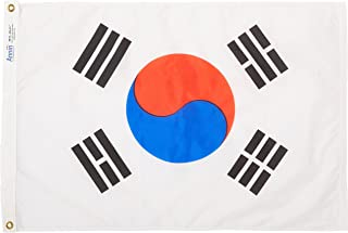 product image for Annin Flagmakers Model 197603 South Korea Flag Nylon SolarGuard NYL-Glo, 2x3 ft, 100% Made in USA to Official United Nations Design Specifications