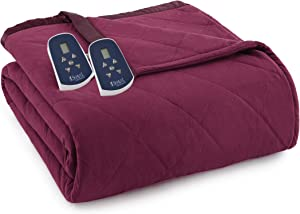 Thermee Micro Flannel Micro Flannel Electric Blanket, King, Burgundy