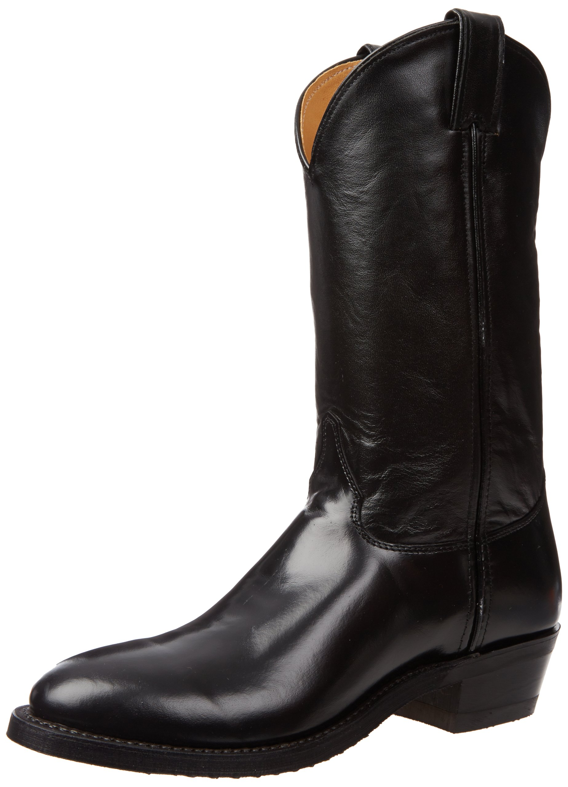 Justin Boots Men's U.S.A. 12'' Classic Western Boot Low Profile Round Toe,Black Melo-Veal,11 D US