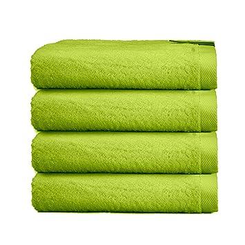 Lavabo Verde Pistacho.Adp Home Toallas De Mano Lavabo Algodon Peinado 550grms Pack De 4 Unidades 50 X 100 Cm 4 Toallas Bano