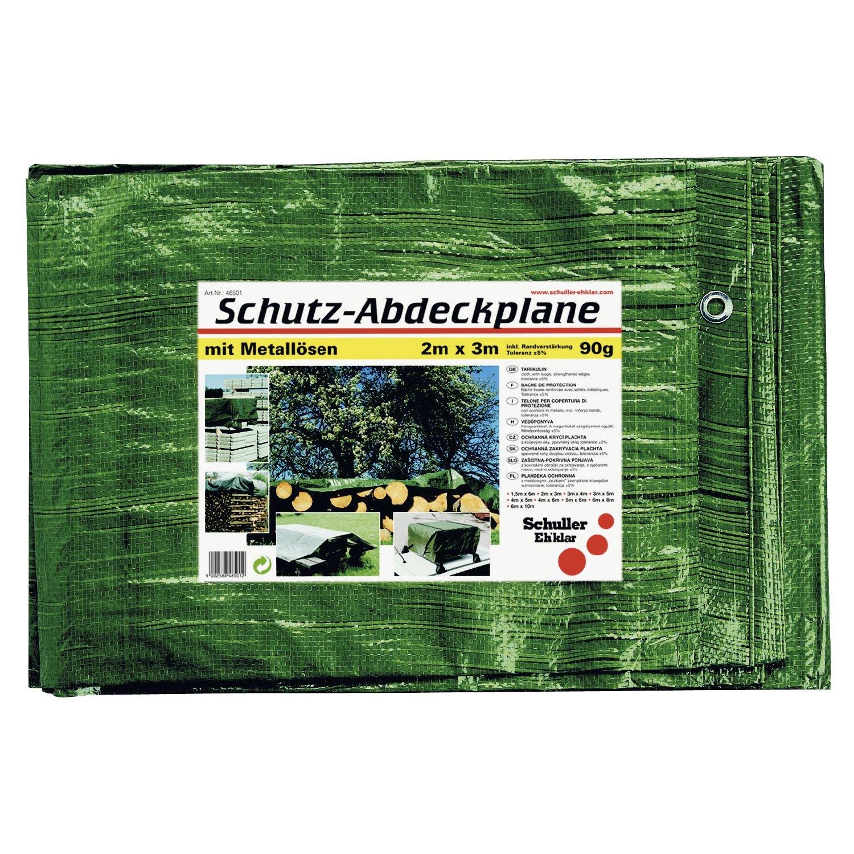 46515 8/x 10/m SCHULLER B/âche avec /œillets couleur 90/g vert