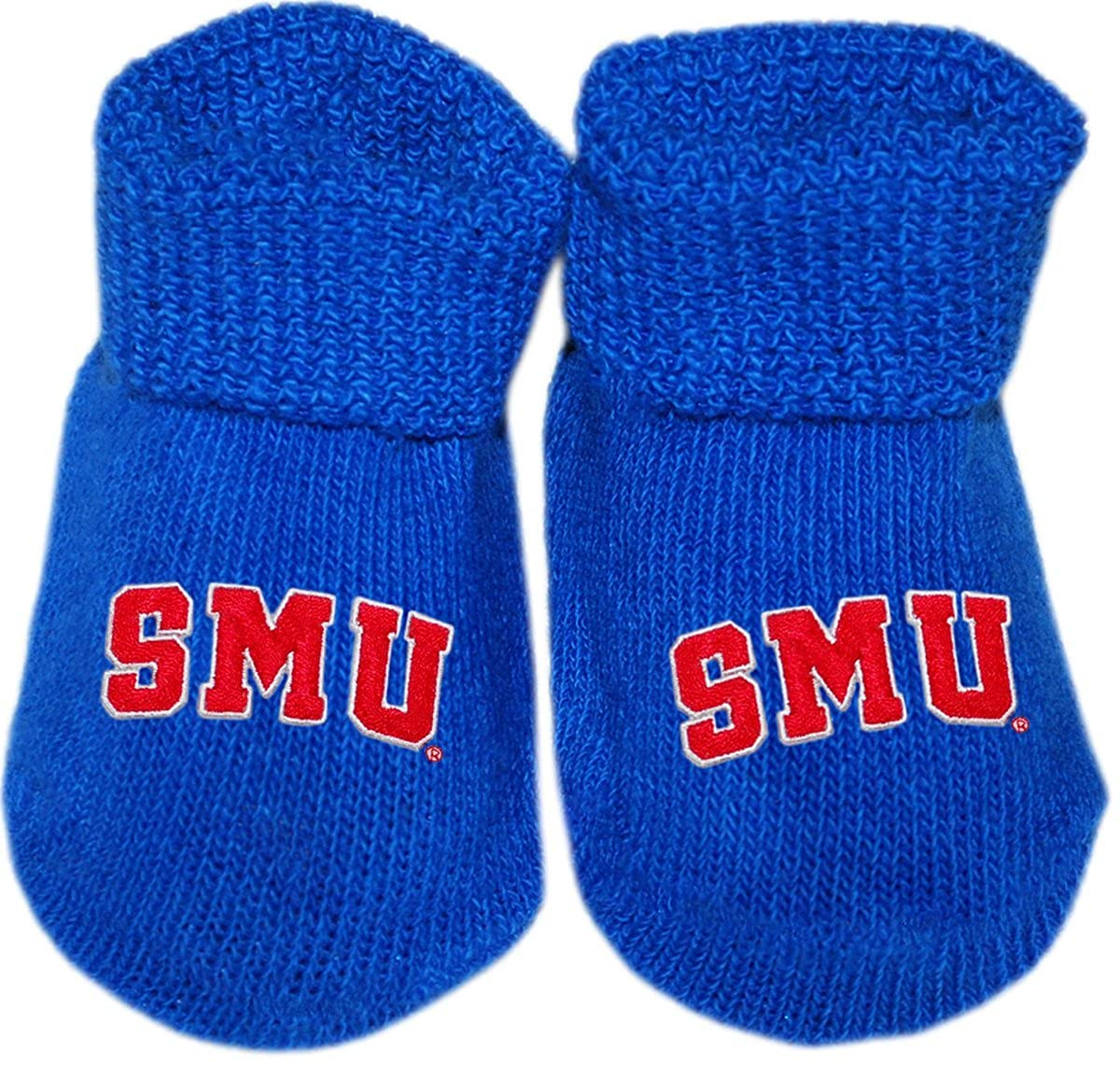 Southern Methodist University Arched SMU Newborn Baby Bootie Sock