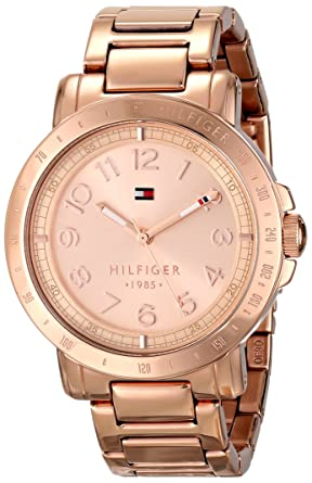 235eaea5183d Image Unavailable. Image not available for. Color  Tommy Hilfiger Women s  1781396 Rose Gold-Tone Watch