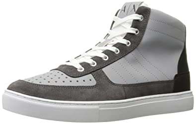 2464ca37ab8d Amazon.com  A X Armani Exchange Men s High Top Basket Fashion ...