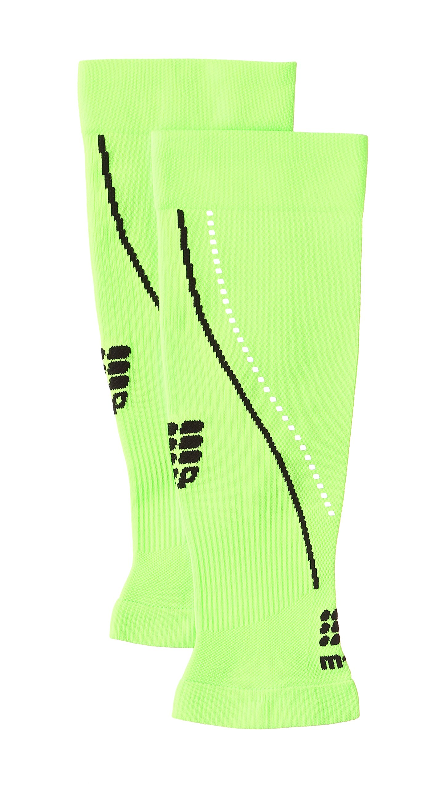 CEP Men's Progressive+ Night Calf Sleeves 2.0 Provide Unique Compression Technology for Running, Cross Training, Fitness, Calf Injuries, Shin Splits, Recovery and Athletics, 20-30mmHg , Flash Green/Black , IV