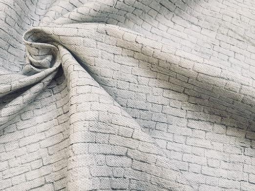 LushFabric Cortina de tela de algodón de color blanco con diseño ...