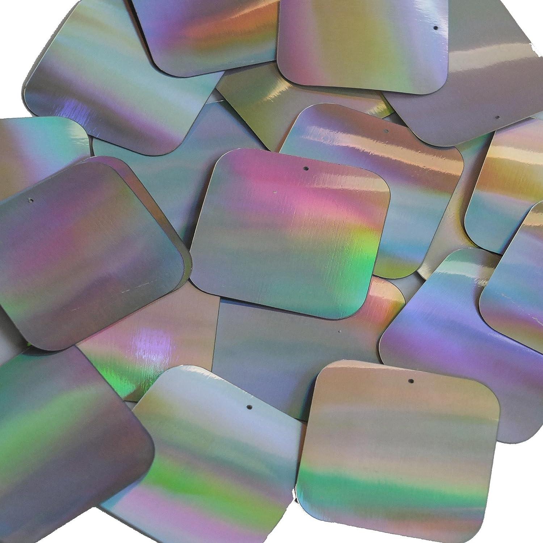 3mm Sequins Flat Round Dark Silver Lazersheen Reflective Metallic Made in USA