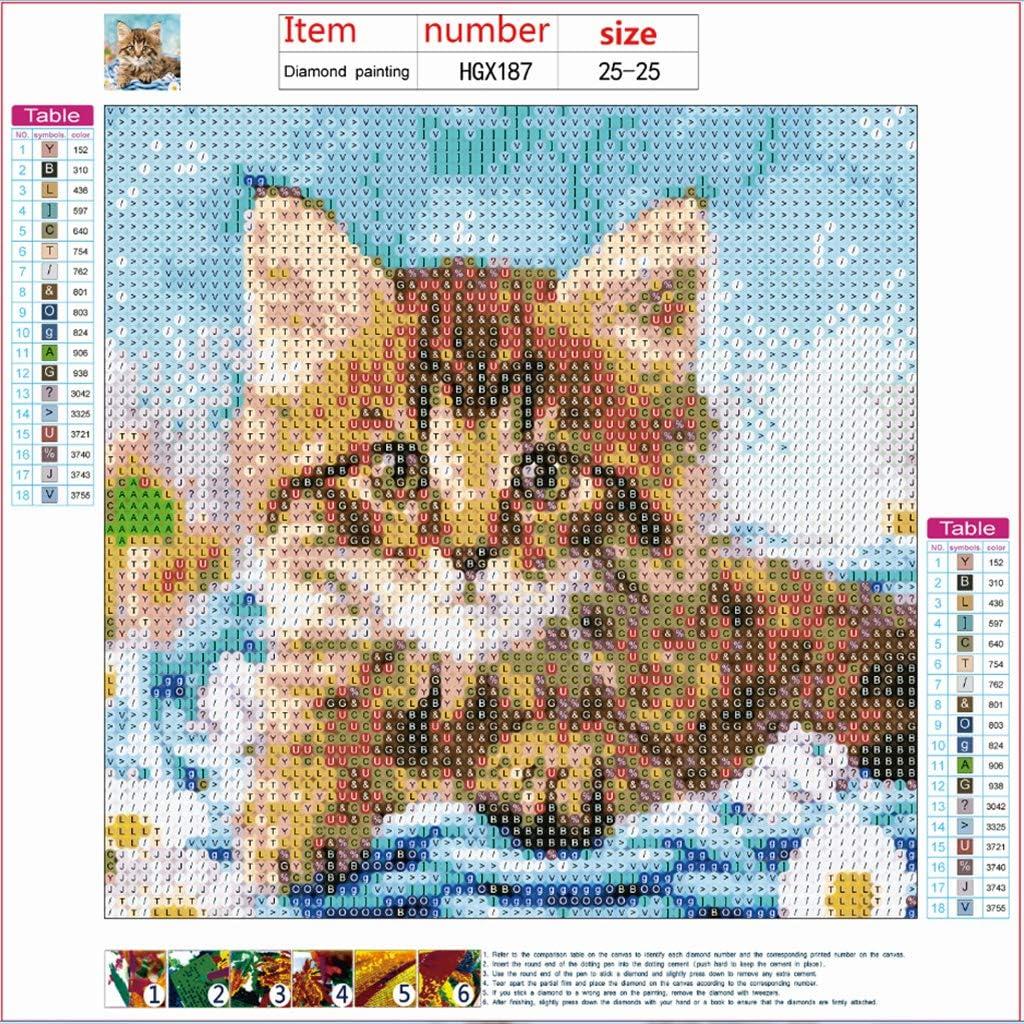 Niumanery Cat Tiger Elephant Diy 5d Full Drill Diamond Painting Embroidery Cross Stitch 186 Kits Hogar Y Cocina Atapsurya Id