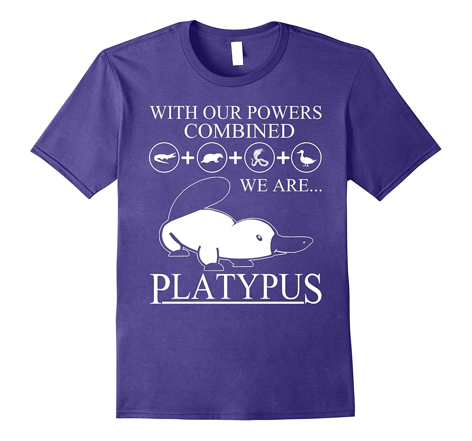 With our power combined Platypus T-shirt-CD