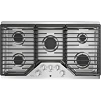 GE Profile 36 in Gas Cooktop in Stainless Steel w/5 Burners with Rapid Boil
