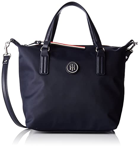 ee4cdb136a4 Tommy Hilfiger Poppy Small Tote, Bolso totes para Mujer, Azul (Tommy Navy)