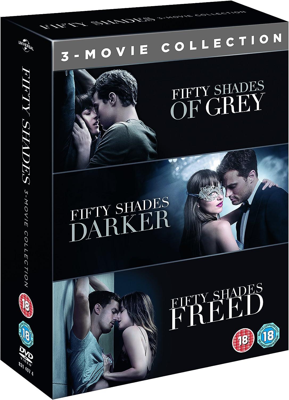 Fifty Shades 3 Movie Boxset Dvd 2018 Amazon Co Uk Dvd Blu Ray
