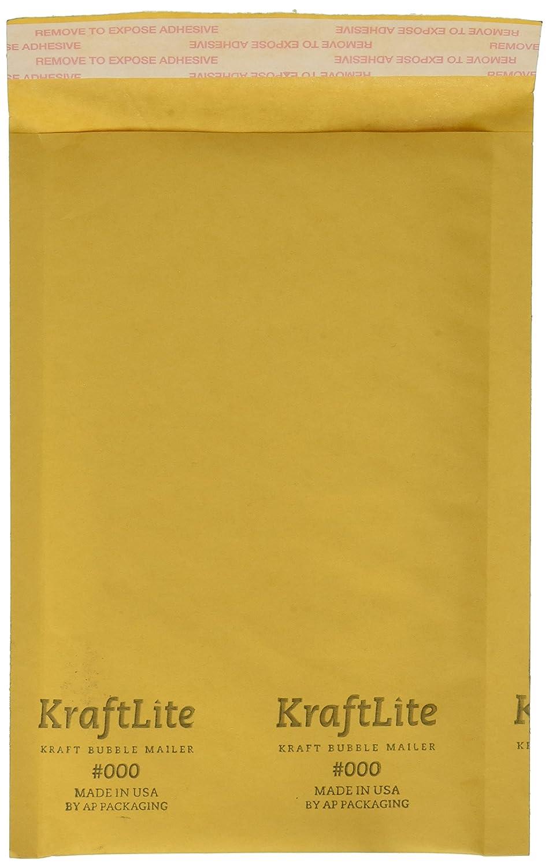 "#000 4x8"" KRAFT BUBBLE MAILER PADDED ENVELOPES-100 qty"
