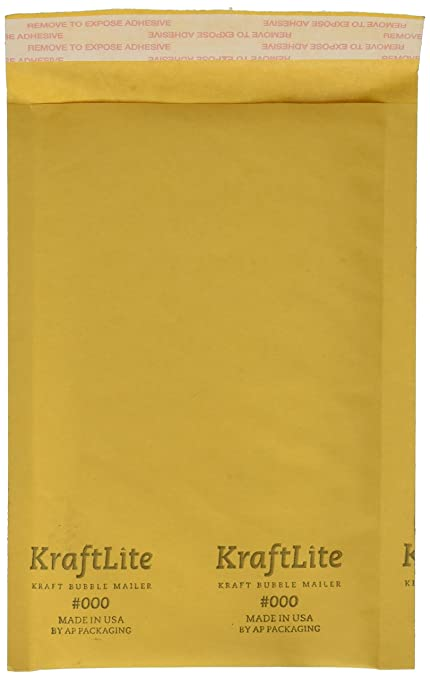 amazon com 000 4x8 kraft bubble mailer padded envelopes 100 qty