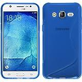 PhoneNatic Custodia Samsung Galaxy J5 (2015 - J500) Cover blu S-Style Galaxy J5 (2015 - J500) in silicone + pellicola protettiva