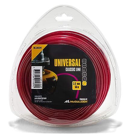 Amazon.com: McCulloch Round nylon thread 3mm x 56m: Jardín y ...