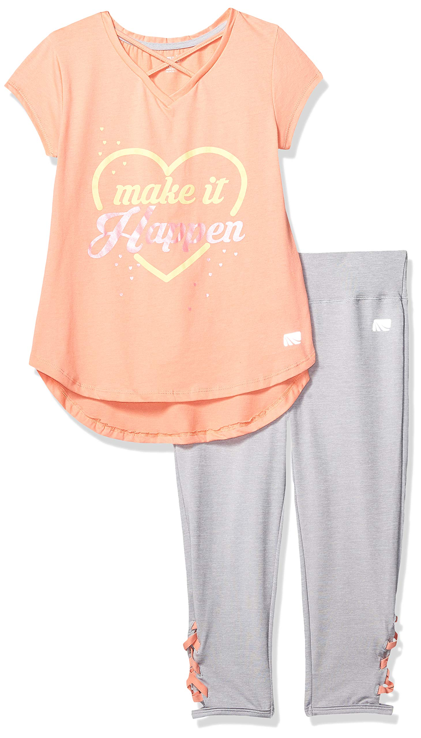 Marika Girls' Big Capri Sets with Headband, Coral Make it Happen 7/8