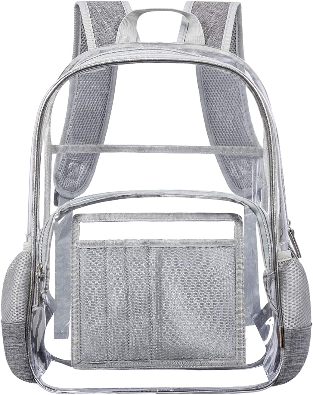 NiceEbag Heavy Duty Clear Backpack Transparent Bookbag See Through Backpack
