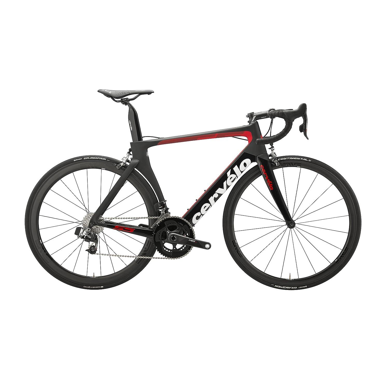 Cervelo(サーヴェロ) S5 Sram E-Tap Road Bike 2018年 - Black/Red/White [並行輸入品] 48  B07F6WSJK3