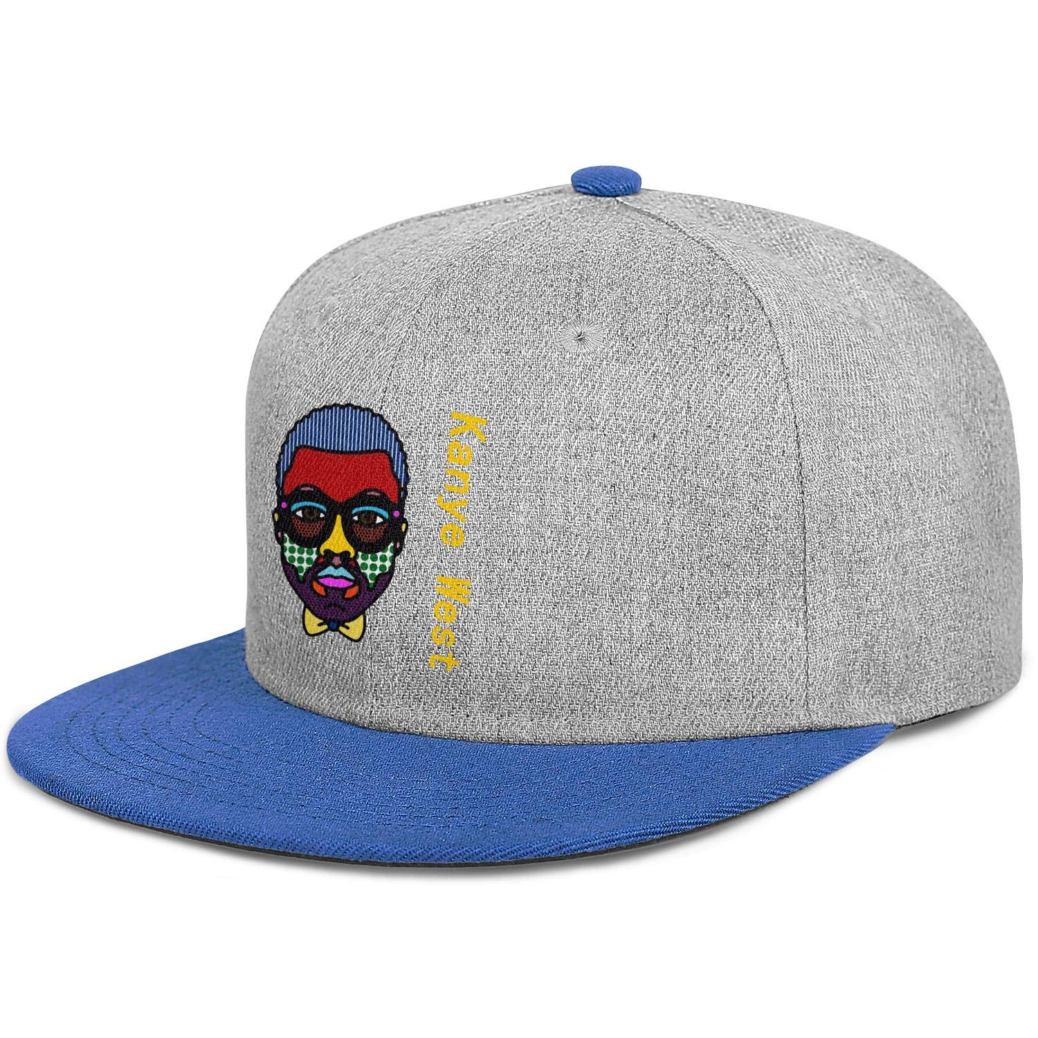 MUSOWIC Mans Womens Kanye-Paintings Cap Casual Hats Workout Caps