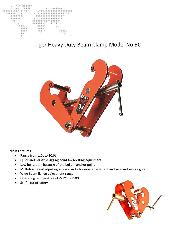3.0/toneladas Tiger Tiger bc-0300/haz//abrazadera de viga 73/mm-305/mm anchura