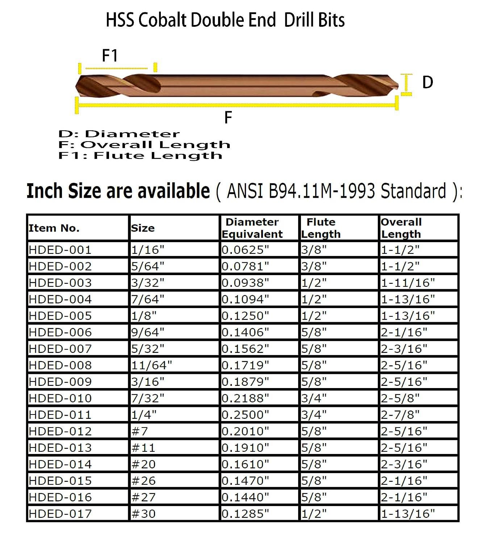 Diameter Solid Carbide Drill for Hardened Materials .1040 Kodiak USA Made #37