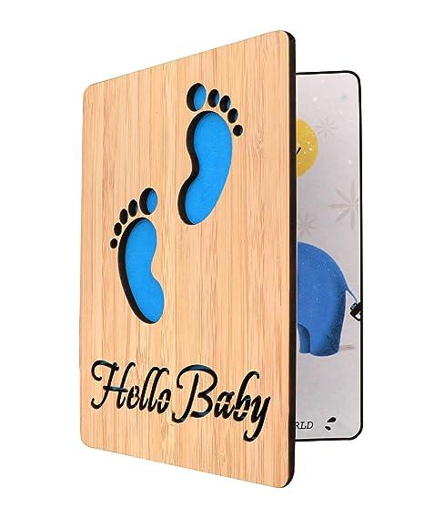 Amazon.com: Tarjeta de felicitación de madera hecha a mano ...