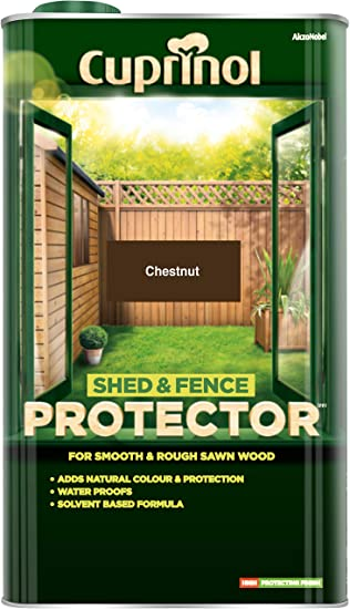 Cuprinol 5L Shed and Fence Protector Chestnut Decorative Fences ...