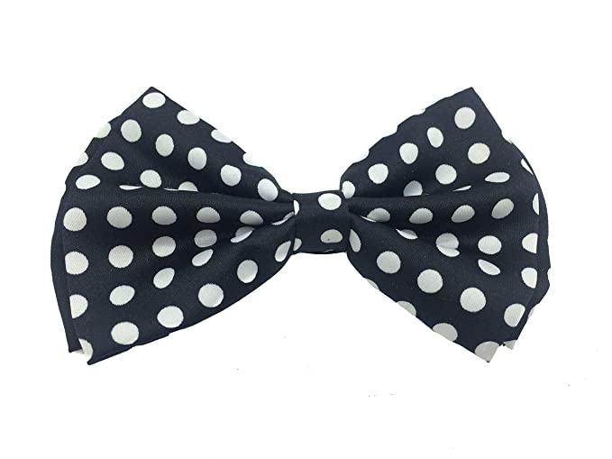 7338a00958d9 Image Unavailable. Image not available for. Color: NEW Black with Big White  Polka Dot Tuxedo Classic Bowtie Pure Plain ...