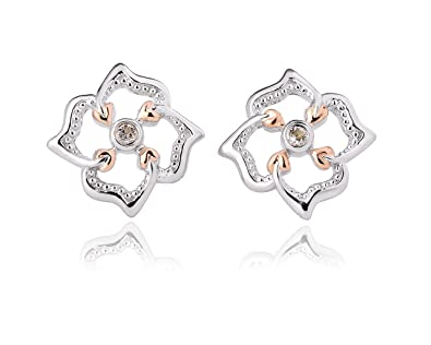 0cba4597d Clogau 925 Sterling Silver and 9ct Rose Gold Tree of Life Flower Stud  Earrings: Amazon.co.uk: Jewellery