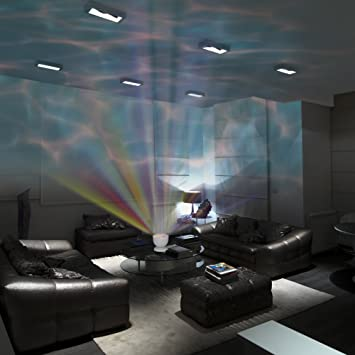 Gideon dreamwave soothing ocean wave projector led night light with built in stereo speakers