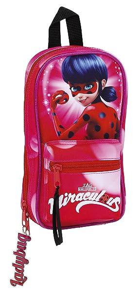 Safta Neceser Con 4 Estuches y útiles Ladybug