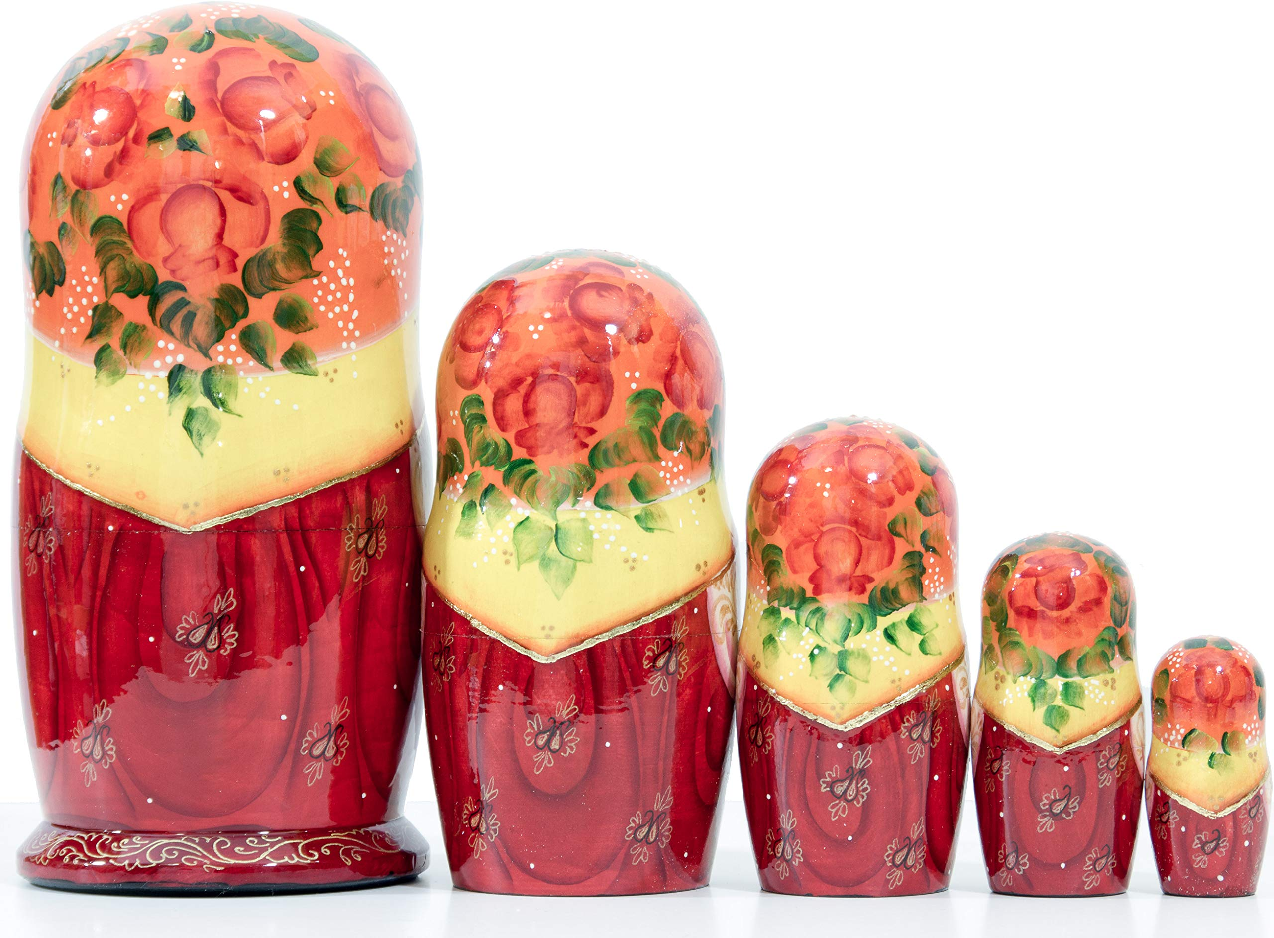 Russian Nesting Doll - Village Scenes - Hand Painted in Russia - 5 Color/Size Variations - Traditional Matryoshka Babushka (6.75``(5 Dolls in 1), Scene L) by craftsfromrussia (Image #3)