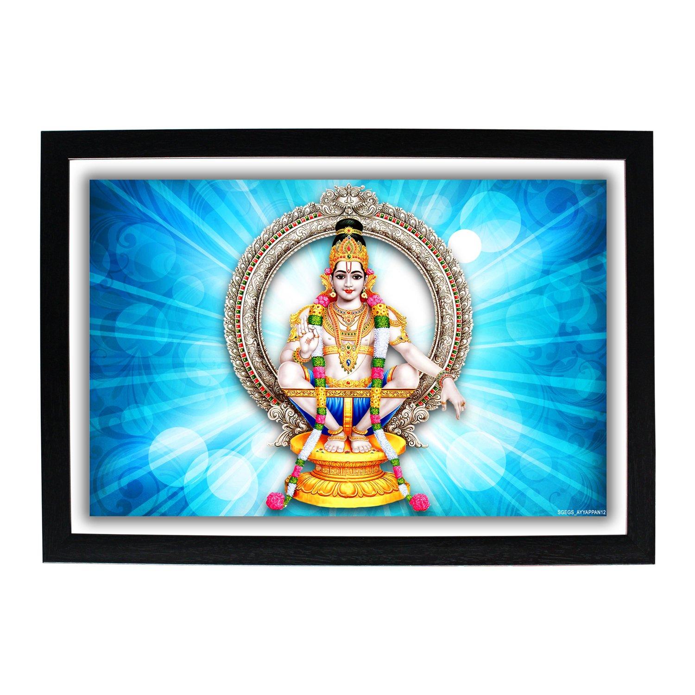 Buy God Ayyappan Hd Photo Frame Lord Ayyappa Sastavu Hariharaputra Manikanta Shasta Dharma Shasta Swamiye Saranam Ayyappa Deva God Of Growth Iyyapan